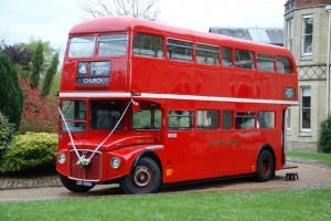 Red Routemaster Wedding Bus