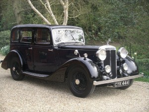 Vintage Daimler wedding car hire