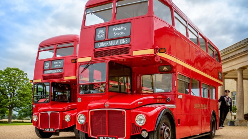 routemaster buses for weddings in London