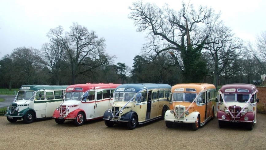 Vintage buses for weddings in Hampshire