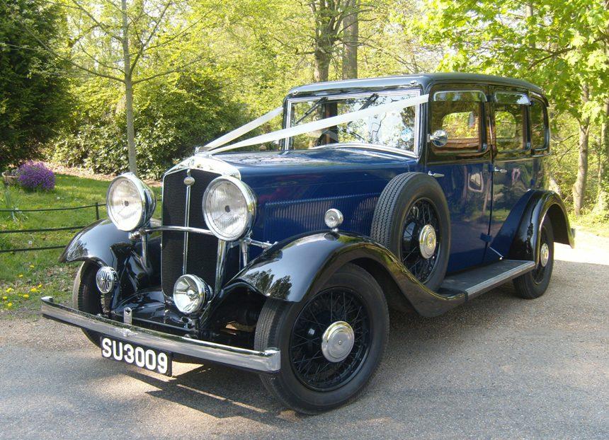 Vintage Wedding Dresses East Sussex: Vintage Wedding Car In Crowborough