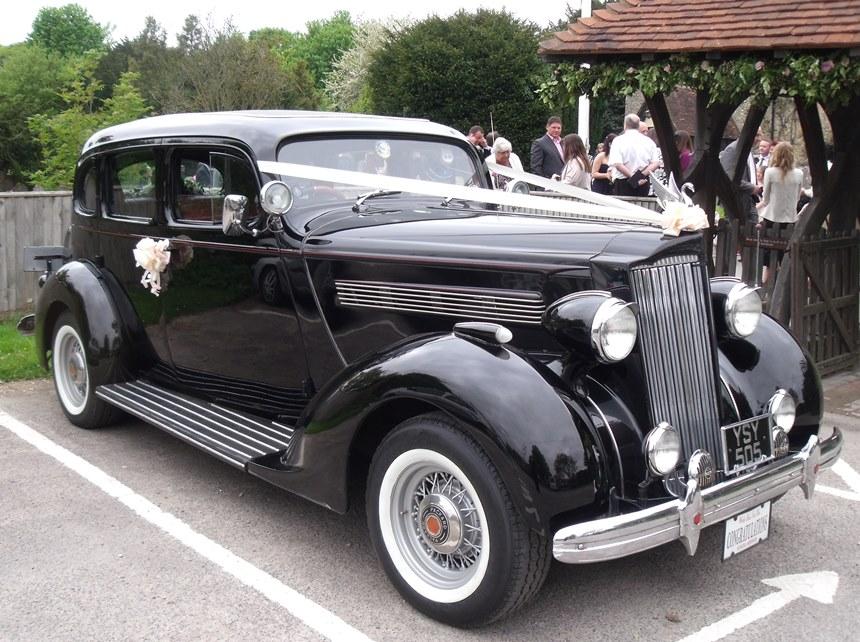 vintage 1936 packard sedan american wedding car hire. Black Bedroom Furniture Sets. Home Design Ideas