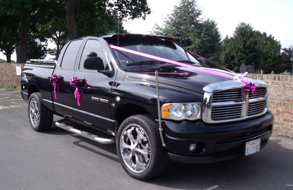 american dodge dodge ram pick up for weddings in. Black Bedroom Furniture Sets. Home Design Ideas