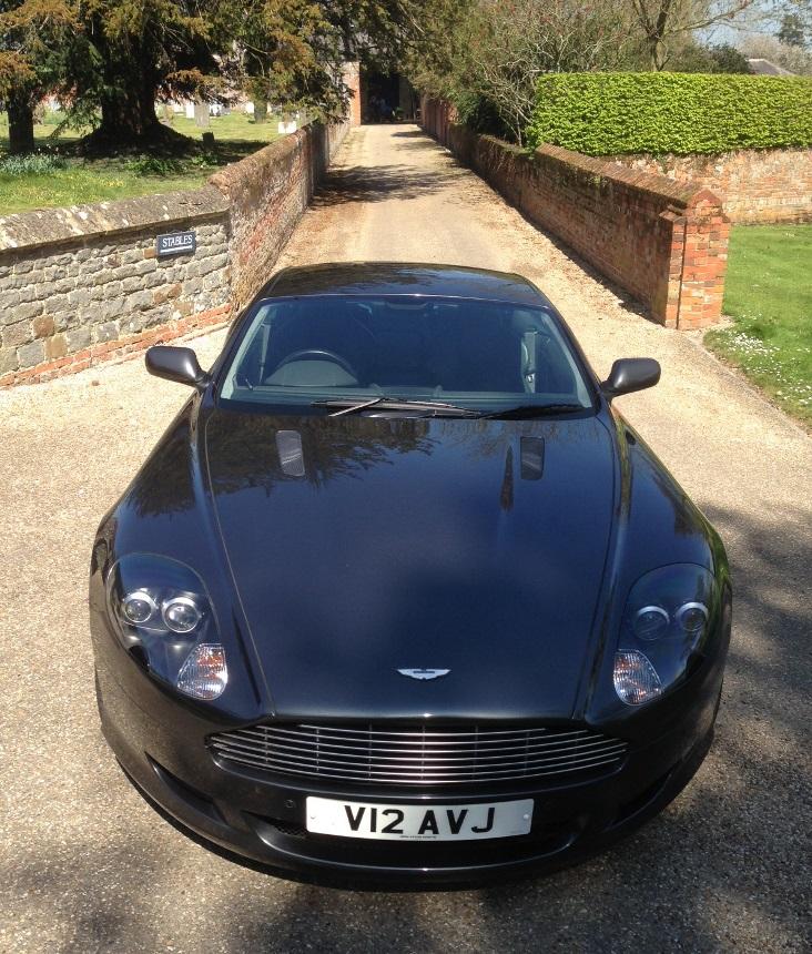 Egham Wedding Venue: Aston Martin Wedding Car Hire In