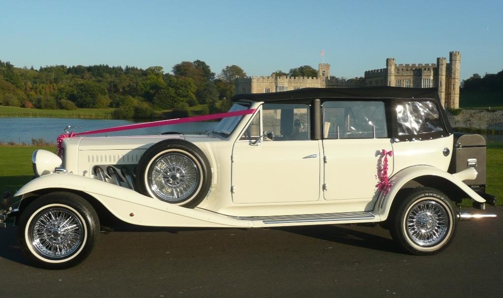 Beauford Wedding Car White Beauford Wedding Car In