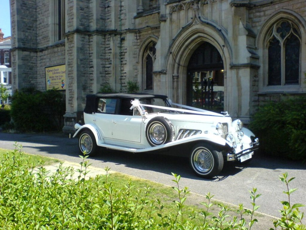 White Beauford Wedding Car Beauford For Wedding Hire In