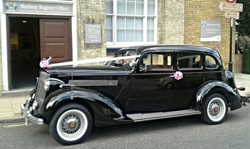 Vintage 1936 Packard Sedan American Wedding Car Hire