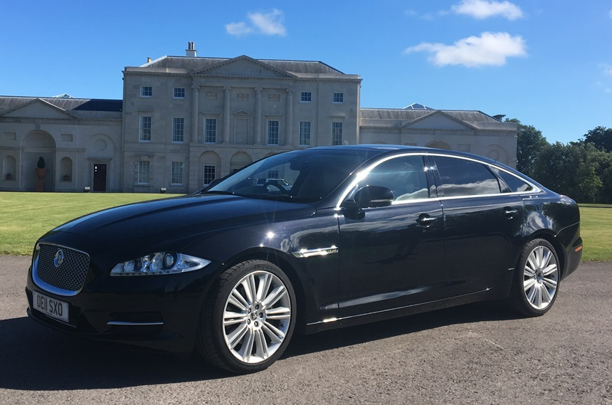 black jaguar jaguar xj for weddings in portsmouth hampshire. Black Bedroom Furniture Sets. Home Design Ideas