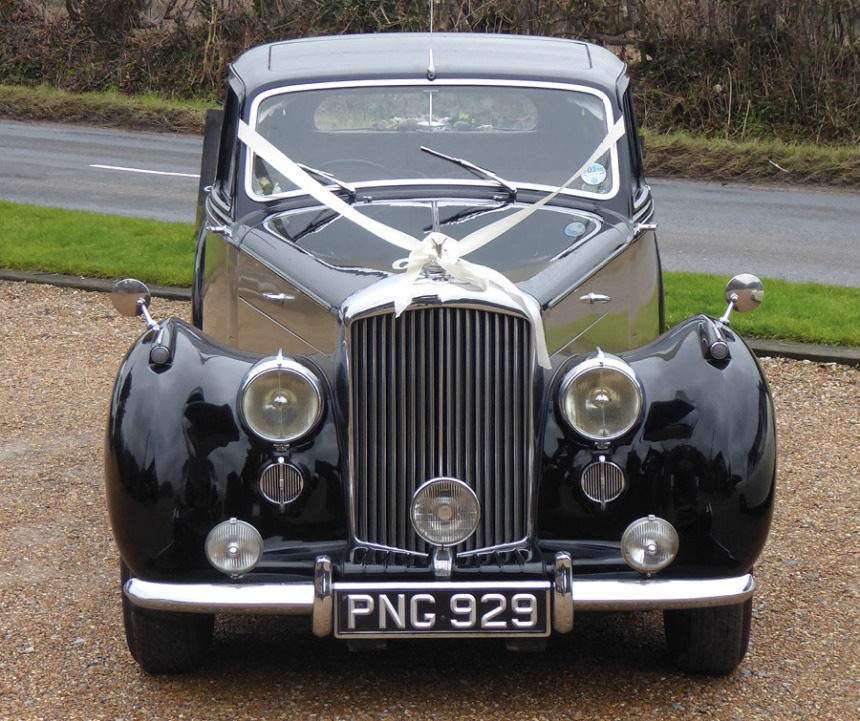 Classic Bentley Wedding Car In Buxted
