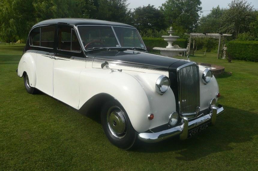 Vintage Wedding Dresses East Sussex: Classic Wedding Car In Robertsbridge