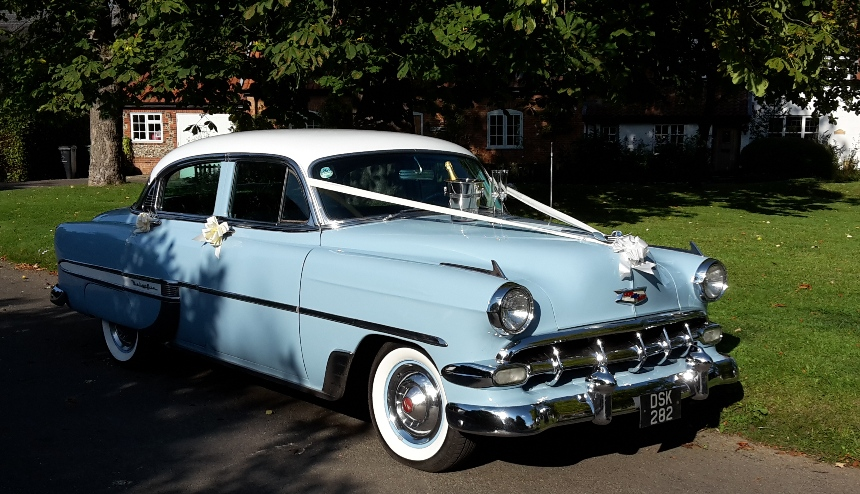 1954 Chevrolet   American Wedding Car Hire in Great ...1950s Cars For Rent
