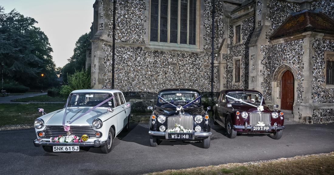 Wedding car hire in Surrey, Hampshire, Berkshire, Kent & London
