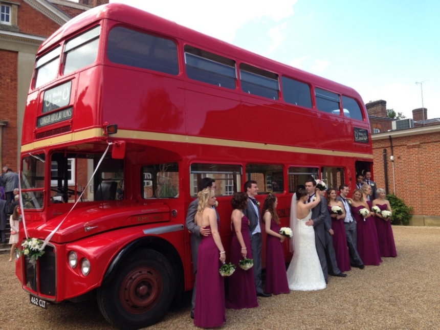 Traditional London Bus For Wedding Hire In Reading