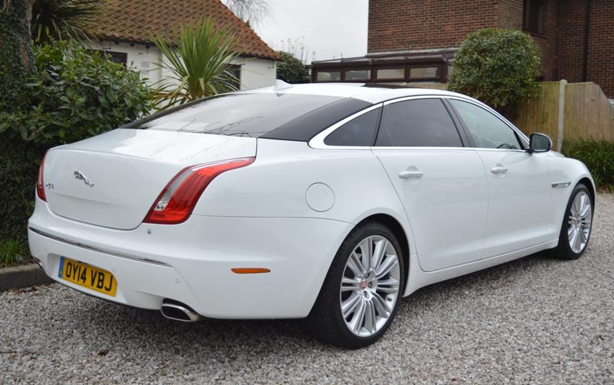 White Jaguar   White Modern Jaguar Wedding Car Hire In Kent