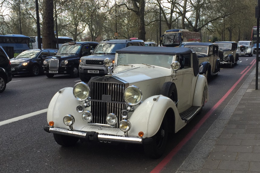 Convertible Vintage Rolls Royce Vintage Rolls Royce Hire In London