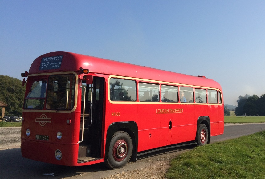 Vintage Single Deck Wedding Bus Hire In Oxford Red For London