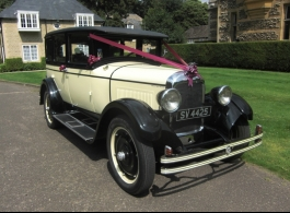 1920s vintage American wedding car in London