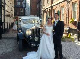1930s Rolls Royce for weddings in Salisbury