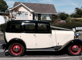 1933 vintage wedding car hire in Southsea