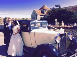Vintage 1933 wedding car in Southampton