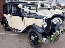 Vintage Austin for weddings in Horsham