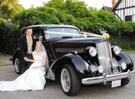 1930s American wedding car in Chatham