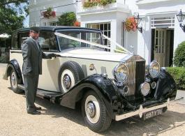 Luxury Rolls Royce Wraith wedding car hire in Camberley
