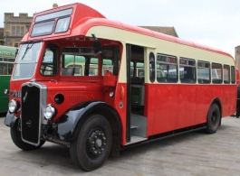 1940s bus for wedding hire in Weston Super Mare
