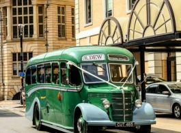 Vintage wedding bus hire in St Neots