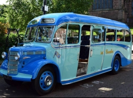 Vintage bus for wedding hire in Worksop