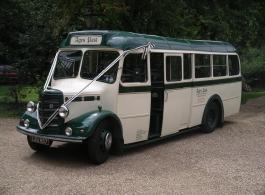 Vintage Wedding Bus hire in Hook