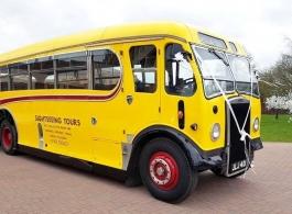 Vintage bus for weddings in Cheltenham