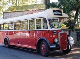 1950 vintage wedding bus to hire in Taunton