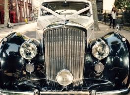 1950s Bentley MKV1 for weddings in Chelsea
