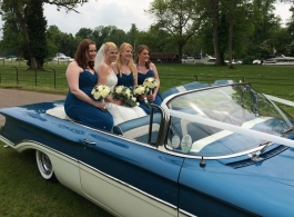 1960 Blue and Cream wedding car in Chertsey