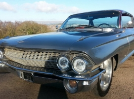 Silver Cadillac for weddings in Bridgend