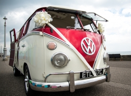 1960s VW Campervan for wedding hire in Haywards Heath