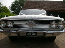 1960s American wedding car for hire in Crowborough