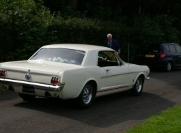 Classic American Ford Mustang for weddings in Tunbridge Wells