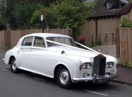 White Rolls Royce Silver Cloud wedding car in Maidstone