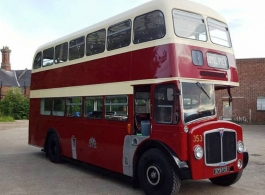 Classic Red Bus for wedding hire in Newbury