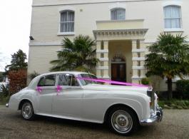 Classic 1960s wedding car in Maidstone