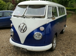 Classic 1960s VW Campervan for weddings in Margate