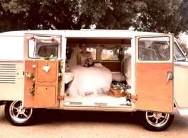 Classic Campervan for weddings in Romford