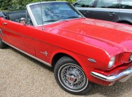 1966 Ford Mustang wedding car hire in Tonbridge