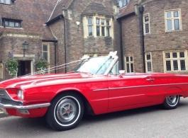 Classic American wedding car hire in Bath
