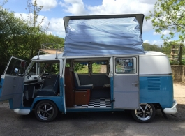 1967 VW Campervan for weddings in Winchester