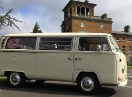 Classic VW Campervan wedding hire in London