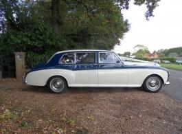 Classic Rolls Royce Phantom wedding car in Southampton