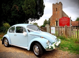 Classic VW Beetle for weddings in Horsham